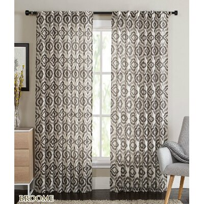 Broome Curtain Panels Color: Chocolate