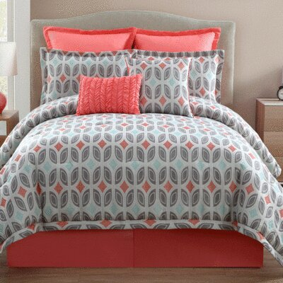 Bermuda 9 Piece Comforter Set Size: California King