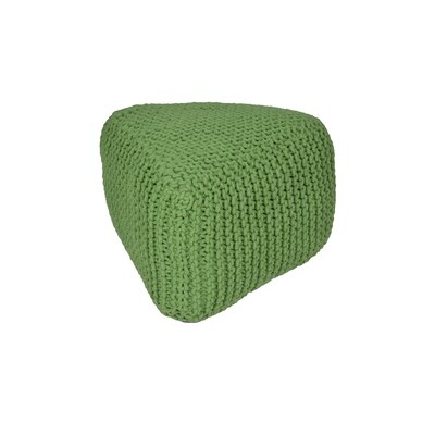 Majestic Knitted Triangle Pouf Upholstery: Green