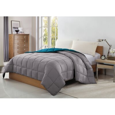 Caribbean Joe Comforter Size: King, Color: Teal / Gray