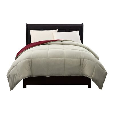 Caribbean Joe Comforter Size: King, Color: Red / Taupe