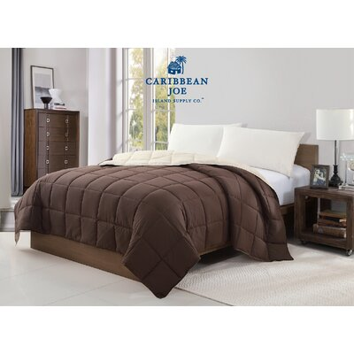 Caribbean Joe Reversible Blanket Size: Full/Queen, Color: Chocolate/Ivory