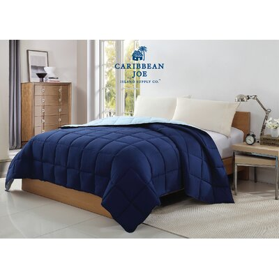 Caribbean Joe Reversible Blanket Size: Full/Queen, Color: Navy/Slate