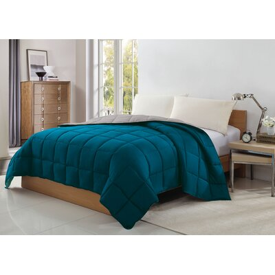 Caribbean Joe Reversible Blanket Color: Teal/Gray, Size: King