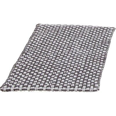 Metro Chennile Basket Weave Bath Mat Color: Gray, Size: 17 x 24