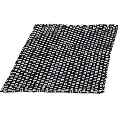 Metro Chennile Basket Weave Bath Mat Color: Black, Size: 17 x 24