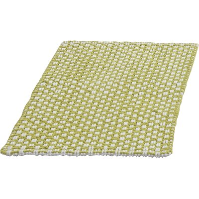Metro Chennile Basket Weave Bath Mat Color: Green, Size: 17 x 24