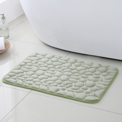 Pebbles Bath Rugs Color: Green