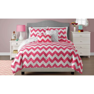 Kara Reversible Comforter Set Size: Full / Queen