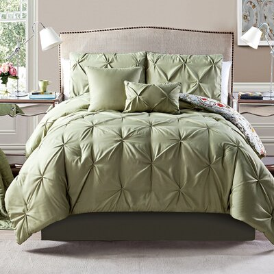 Evelyn 6 Piece Comforter Set Size: Full / Queen