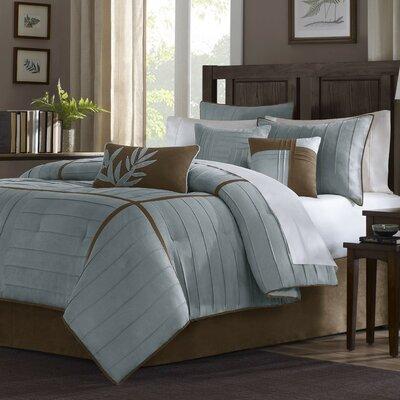Ellington 7 Piece Comforter Set Color: Blue, Size: Queen