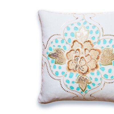 Southmont Eyelet Floral Cotton Throw Pillow