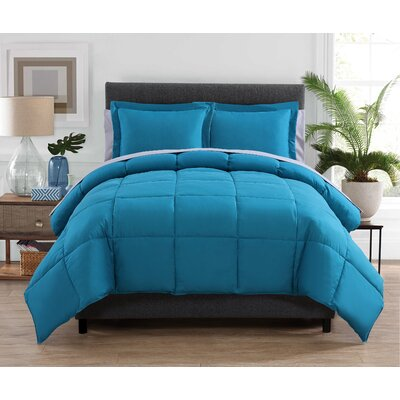 Forestport Bed in a Bag Set Color: Teal/Gray, Size: Full/Double