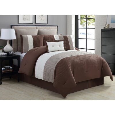 Masontown 8 Piece Queen Comforter Set Color: Taupe