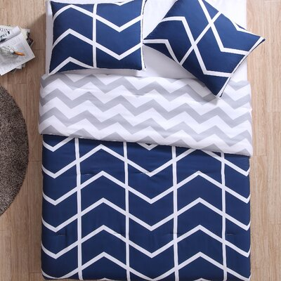 Corydon Reversible Comforter Set Size: Full/Queen