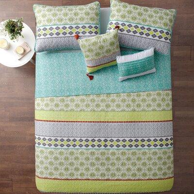 Nassirah 5 Piece Reversible Quilt Set Size: King