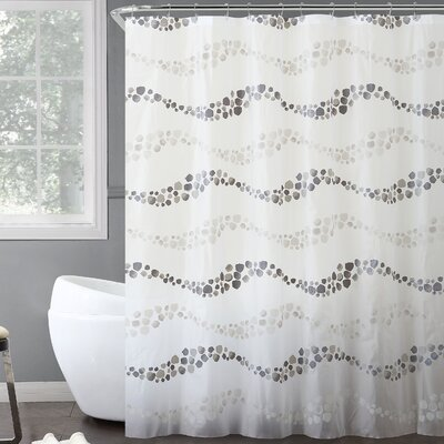 Ridgemont Dot Wave 14 Piece Shower Curtain Set Color: Gray
