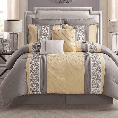 Grange 8 Piece Reversible Bed-In-a-Bag Set Size: King