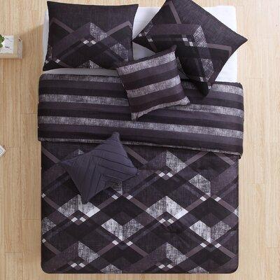 Kathi 4 Piece Reversible Comforter Set