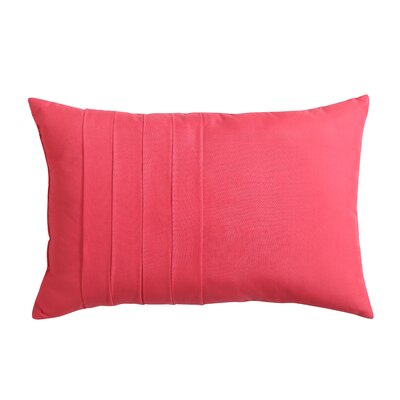 Avon Park Solid Technique 12 X 18 Pillow Color: Coral