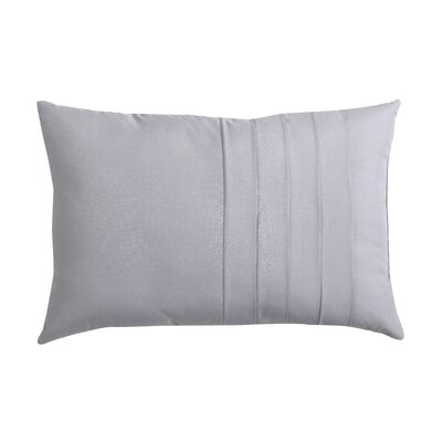 Avon Park Solid Technique 12 X 18 Pillow Color: Gray