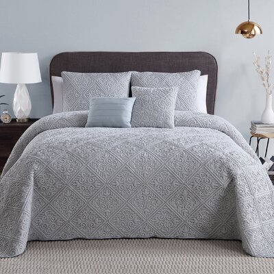 Keira 5 Piece Quilt/Coverlet Set Color: Gray