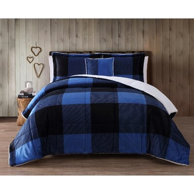 Cinder Cone Plaid Micro Mink Comforter Set Size: Queen