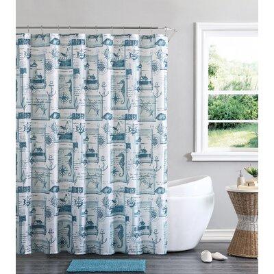 Aleena Nautical Cabana Shower Curtain Set