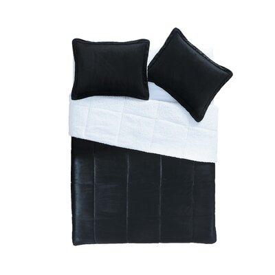 Otis Micro Mink Comforter Set Color: Black
