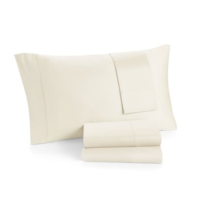 Solid 300 Thread Cotton Sheet Set Color: off White, Size: Twin