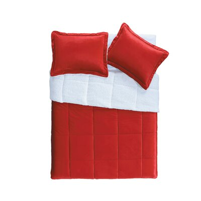 Otis Micro Mink 2 Piece Comforter Set Color: Red