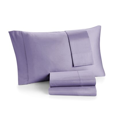 Solid 300 Thread Cotton Sheet Set Color: Lavender, Size: Twin