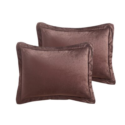 Otis Micro Mink Comforter Set Color: Chocolate