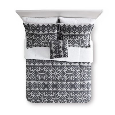 Holiday Nordic Plaid Micro Mink Comforter Set Size: Twin