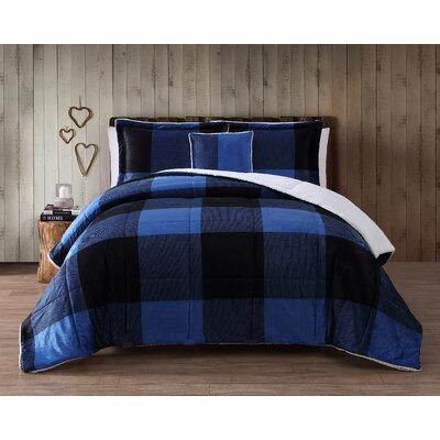 Cinder Cone Plaid Micro Mink Comforter Set Size: Twin