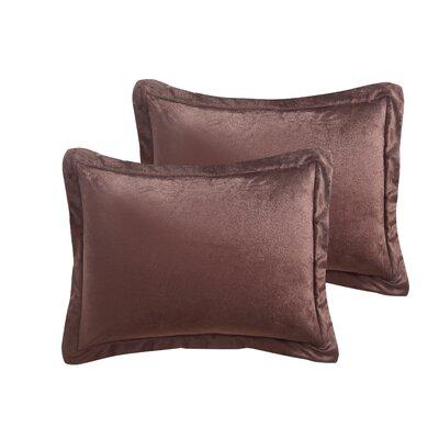Micro Mink Sherpa 2 Piece Comforter Set Color: Chocolate