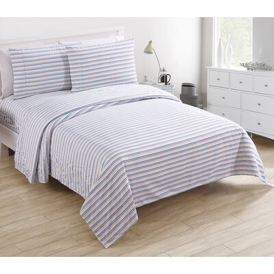Asterope 200 Thread Count 100% Cotton Sheet Set Size: Twin