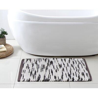Stax Space Dye Cotton Bath Rug Color: Black, Size: 21 x 34
