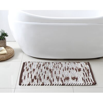 Stax Space Dye Cotton Bath Rug Color: Taupe, Size: 21 x 34