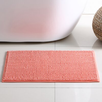 Corazon 2 Piece Bath Rug Set Color: Coral