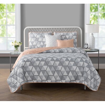Vercher 5 Piece Reversible Quilt Set Size: King