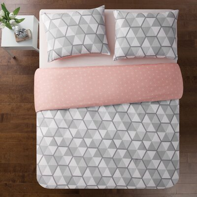 Vercher Printed Reversible Duvet Set Size: Full/Queen