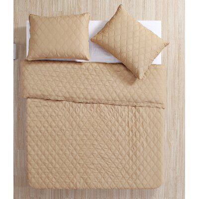 Layman Diamond 2 Piece Coverlet Set Color: Sand, Size: Full/Queen