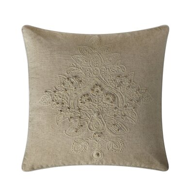 Houser Cotton Throw Pillow Color: Ivory