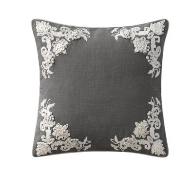 Mourad Embroidered Throw Pillow Color: Gray
