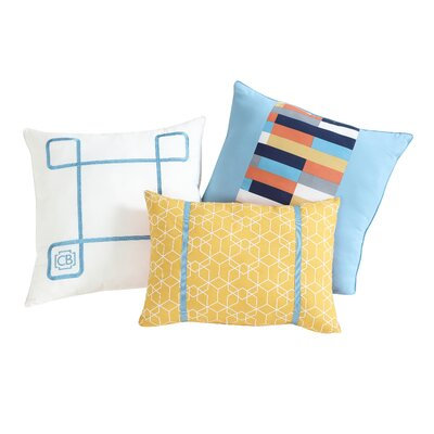 Clairebella Geometric 3 Piece Pillow Set