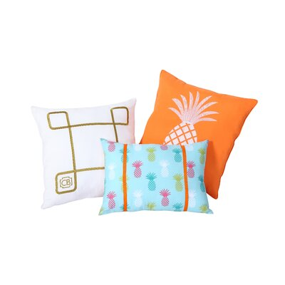 Tropical Clairebella 3 Piece Pillow Set