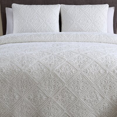Cas 3 Piece Coverlet set Color: Ivory