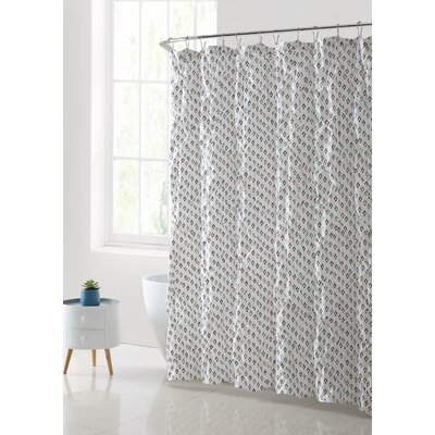 Burnell Printed with Kissing Pleat Shower Curtain Color: Chocolate