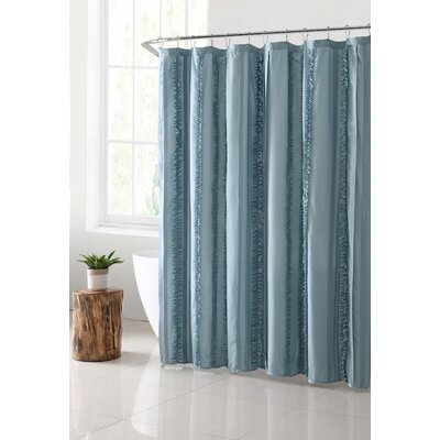 Bettine Solid Technique Shower Curtain Color: Aqua